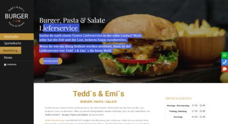Tedd´s & Emi's Burger Lieferservice Lindau